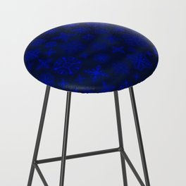 Shower of Sapphire Snowflakes Bar Stool