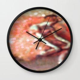 The Dancer by Edgar Degas Peach Bokeh Sparkle Wall Clock