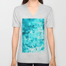 Turquoise Blue Carina Nebula Unisex V-Neck