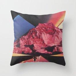 Neon Highway Throw Pillow
