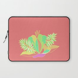 Hot tropical flowers and palms Laptop Sleeve