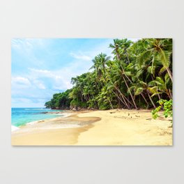 Tropical Beach - Landscape Nature Photography Canvas Print