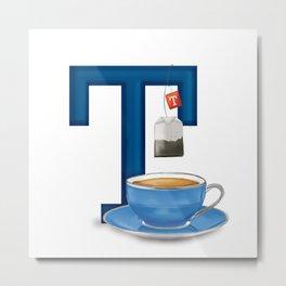 T is for Tea Metal Print