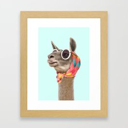 FASHION LAMA Framed Art Print