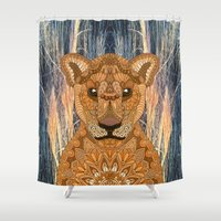 mother Shower Curtains featuring Mother by ArtLovePassion