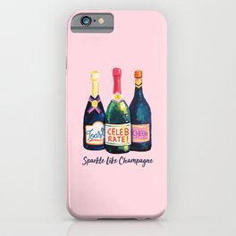 Sparkle Like champagne iPhone Case