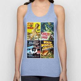 50s Sci-Fi Movie Art Collage #13 Unisex Tank Top