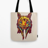 rare Tote Bags featuring BE RARE* - Iberic Lince by Vasco Vicente