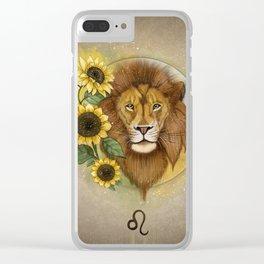 Leo zodiac sign Clear iPhone Case