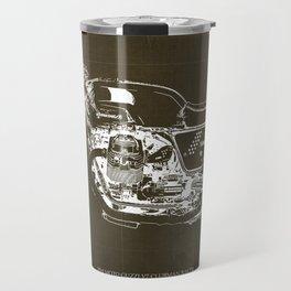 2010 Moto Guzzi V7 Clubman Racer brown blueprint Travel Mug