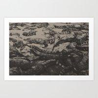 crocodiles.china. Art Print