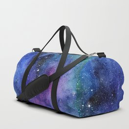 Colorful Galaxy Space Watercolor Duffle Bag