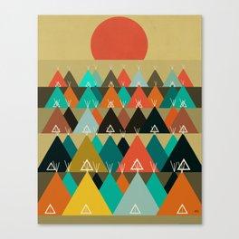 Tipi Moon Canvas Print
