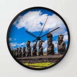 Moai Monolithics on Easter Island Wall Clock