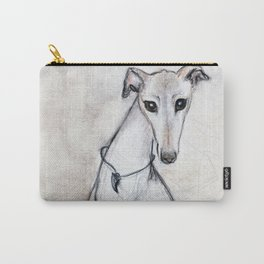 The Greyhound Wearing His Thorn Carry-All Pouch