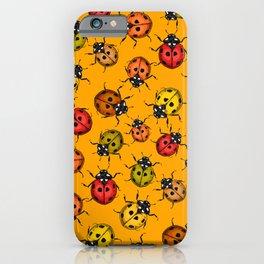 Colorful ladybugs iPhone Case