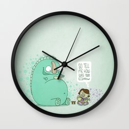 Monster and Tea Wall Clock
