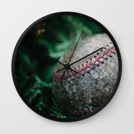 Old Baseball Wall Clock