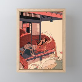 Tell a Dragon Colorful Stories Framed Mini Art Print