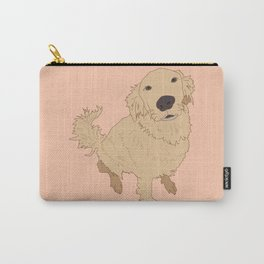 Golden Retriever Love Dog Illustrated Print Carry-All Pouch