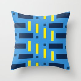 Pattern of Squares in Blue Throw Pillow
