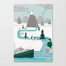 I like water Canvas Print