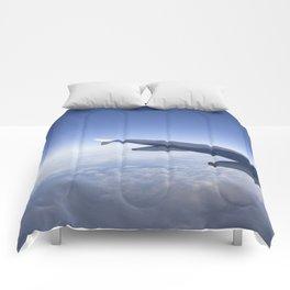 Heavenly Blue Skies Flying Comforters