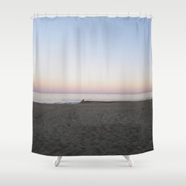 Winter Sunset By The Sea  Shower Curtain