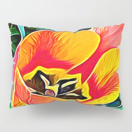 Flower in Expressive Birth Pillow Sham