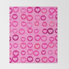 Love Hearts Throw Blanket