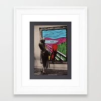 scream Framed Art Prints featuring Scream by Canson City