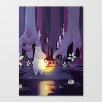 moomin Canvas Prints featuring Forest spirits by Powersimon
