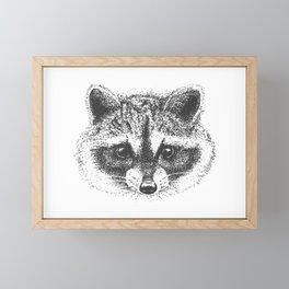 Adorable little trash panda Framed Mini Art Print