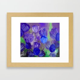 Breaking Dawn in Shades of Deep Blue and Purple Framed Art Print