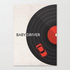 Baby Driver Minimalist Poster Canvas Print