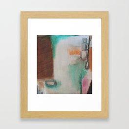 white space.  Framed Art Print