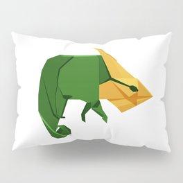Origami Chameleon Pillow Sham
