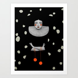 Rodinia in Black Art Print