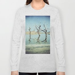 Three Trees in the Sea - Salton Sea California Long Sleeve T-shirt