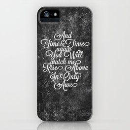 Rise Above (White) iPhone Case