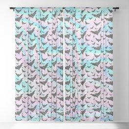 Holographic Glitter Bats Pattern Sheer Curtain