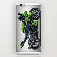 motorbike iPhone & iPod Skins featuring Kawasaki Motorbike by cjsphotos