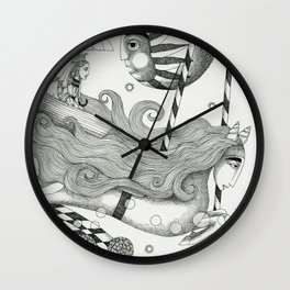 East of Blue Lake Wall Clock