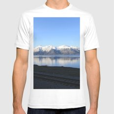 The Alaskan Railroad MEDIUM Mens Fitted Tee White