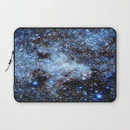 Blue gAlaxY Sparkle Stars Laptop Sleeve