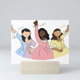 Sisters who work  Mini Art Print