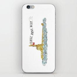 Love Runs Deep - Submarine Art iPhone Skin