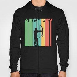 Retro Style Archery Bow And Arrow Archer Hoody