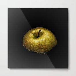 Golden Apple Wet Metal Print