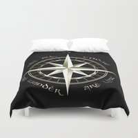tolkien Duvet Covers featuring Not all those who wander are lost - J.R.R Tolkien - 2 by Augustinet